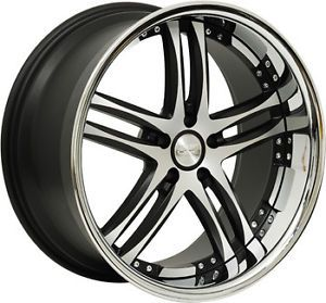 "20"" Concept One RS 55 Wheels Rims Black 20x8 5 5x114 3 Acura Toyota Lexus Ford"