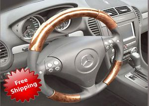 Volvo S40 05 07 Wood Grain Pattern Steering Wheel Cover Interior Parts