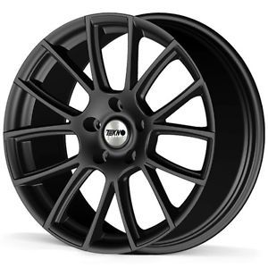 "18"" Tekno RX7 4 Matt Black Alloy Wheels for Jaguar x Type 01 08 8J 5 108 ET40"