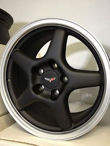 17 inch Matte Black Machine Chevrolet Corvette C4 ZR1 Wheels Rims 84 87 Vette