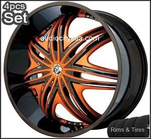 "24"" Diablo Wheels and Tires Pkg for Lexus Impala Honda Audi Jaguar Infiniti Rims"