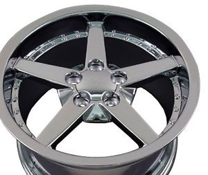 "18"" x 8 5 18x10 5 Chrome C6 Corvette Wheels Rims Fit Camaro SS Firebird Trans Am"