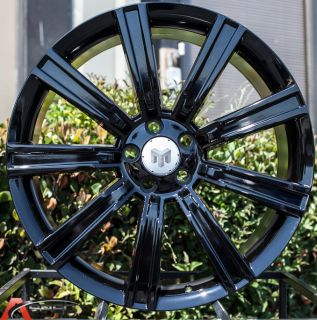 22x10 Wheels 5x120 Black Rims Fits Range Rover Sport Supercharged
