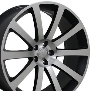"Set of 4 22"" Matte Black Chrysler 300 SRT Replica Wheels Rims 22x9 SRT 8 300C"