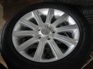 "4 17"" Chrysler 200 10 Spoke Alloy Wheels Rims w Continental Tires 2391"