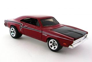 2009 Hot Wheels Muscle Mania 081 69 Dodge Charger Red 05 10