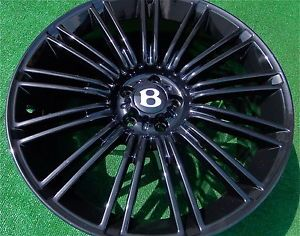 4 New Bentley Continental GT Flying Spur Speed Black 20 inch Wheels Supersports