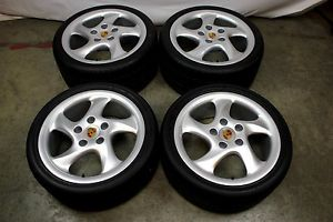 Porsche Turbo Twist 18 Wheels Rims Genuine 996 993 928 964 968 944 GT3 Tires