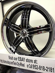 20 inch Black Ice Chrome Wheels Rims Cadillac ATS cts DeVille DTS Seville STS