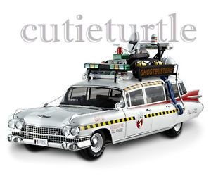 Hot Wheels Mattel Elite X5470 Ecto 1A Cadillac Ambulance Ghostbusters 2 1 18