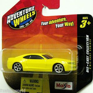 2010 Chevy Camaro Maisto Adventure Wheels 1 64 Scale Yellow