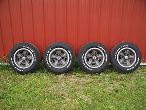 Chevy Camaro Z28 Rims Wheels w Almost New Firestone Indy 500 255 60 15 Tires
