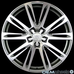 "19"" Gunmetal s Line Style Wheels Fits Audi A5 S5 RS5 B8 8T Coupe Cabriolet Rims"