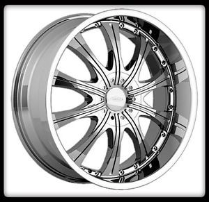 20x10 20x8 5 DIAMO 30 Karat 5x112 Audi Mercedes Staggered Chrome Wheels Rims