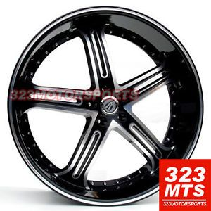 24 inch Rims Wheels Versante 226 VE226 Rims Tahoe Rims Yukon Escalade Cadillac