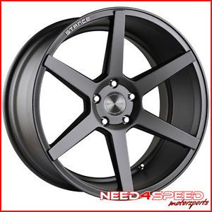 "20"" Chevy Camaro Stance SC 6IX SC6 Grey Concave Staggered Wheels Rims"