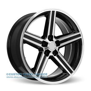 "20"" Black Rims Chrysler Chevrolet Dodge Ford IROC Wheels"