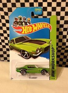 2014 Hot Wheels Green '70 Camaro Error Car RARE