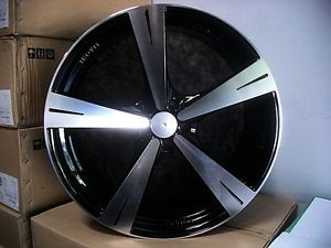 "Dodge Charger Magnum Challenger 22"" Gloss Black Wheels Chrysler 300 C 300C Rims"