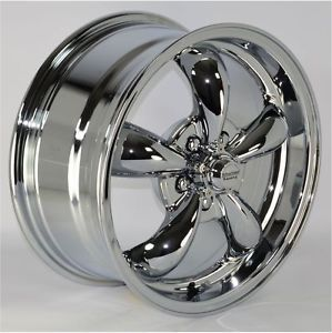 "16x7"" Chrome 5 Spoke Wheels Rims 5x114 3 mm Lug Pattern for Ford Mustang 2009"