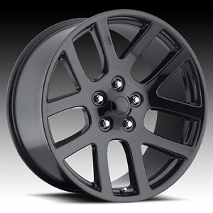 "20"" SRT10 Dodge RAM Laramie Hemi Dakota Durango Factory Style Wheels Rims Black"