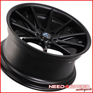 "19"" Scion FRS Rohana RC10 Black Concave Staggered Wheels Rims"