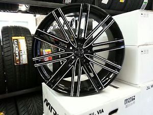 22 inch Versante 227 Wheels Rims and Tire Package Nissan Chevy Honda Toyota
