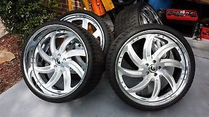 "22"" Forgiato Azioni Staggered Wheels Rims Tires Jaguar XK XJL XF Volvo Lincoln"