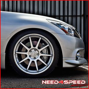 "20"" Hyundai Genesis Coupe Concept One CS10 Silver Concave Staggered Wheels Rims"