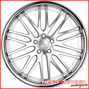 "20"" Infiniti G37 Sedan Stance Evolution Concave Staggered Silver Wheels Rims"