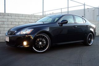"19"" Lexus SC SC430 MRR GT1 Black Staggered Rims Wheels"