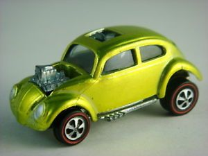1968 Hot Wheels Custom Volkswagen Redline US 6220 Lime w Dark Int