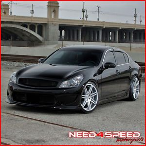 "20"" Infiniti G35 Coupe Concept One CSM7 Concave Silver Staggered Wheels Rims"