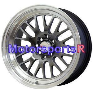 16 16x8 XXR 531 Chromium Black Wheels Rims Deep Dish Lip 4x100 90 05 Mazda Miata
