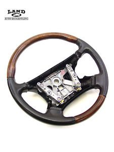 Jaguar X308 XJR XJ8 Wood Steering Wheel Burr Walnut Leg Warm Charcoal Black