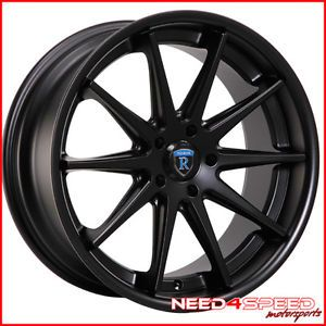 "19"" Lexus LS400 Rohana RC10 Black Concave Staggered Wheels Rims"