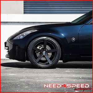 "20"" Nissan Maxima Rohana RC22 Deep Concave Black Staggered Wheels Rims"