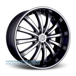 "22"" Versante 219 Black Wheels for Toyota Lexus Infiniti Nissan Rims"
