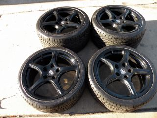 "19"" Factory Porsche Carrera 911 Wheels 993 996 997 Narrow Body Tires C2 C4"