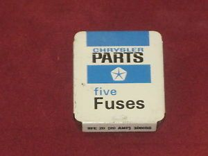 Vintage Collectible Chrysler Parts Fuses Mopar Dodge Plymouth Chrysler