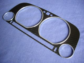 VW Caddy 2 MK2 9K 96 04 Carbon Fiber Bezel Chrome Rings Cluster Gauge Speedo