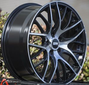 "18"" Str 612 5x100 Black Machined Wheel Fit Lexus Ct 200H Scion TC XD Fr s 2013"