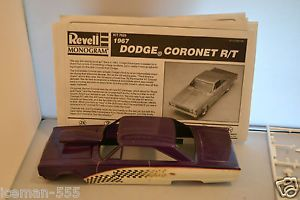Revell Monogram 1967 67 Dodge Coronet R T Model Car Kit Junk Parts Project Donor