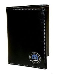 Mopar Parts Dodge Plymouth Chrysler RAM Jeep Tri Fold Leather Wallet