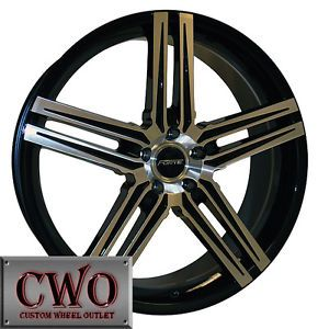 18 Black Forte Phantom Wheels Rims 5x100 5 Lug VW Jetta Golf Caviler TT Celica