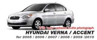 Racing Flag Hood Decal Sticker Silver for Hyundai 2006 2010 Accent Verna