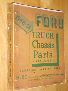 1948 1951 Ford Truck Chassis Parts Catalog Parts Book Parts Manual Orig