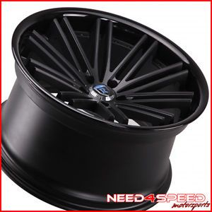 "20"" Honda Accord Coupe Rohana RC20 Concave Black Staggered Wheels Rims"