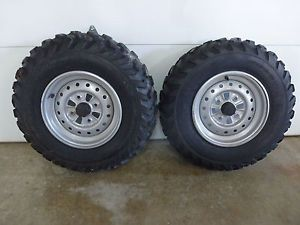 2001 Honda Foreman TRX450S ATV Front Wheels Rims Dunlop Tires AT25 x 8 12