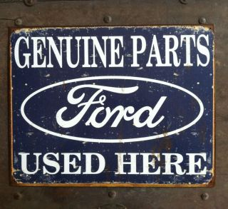 Ford Genuine Parts Man Cave Metal Sign Ford Chevy Dodge